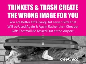 Don't Buy Trinkets and Trash - Be Sure to Buy Only Branding Solutions