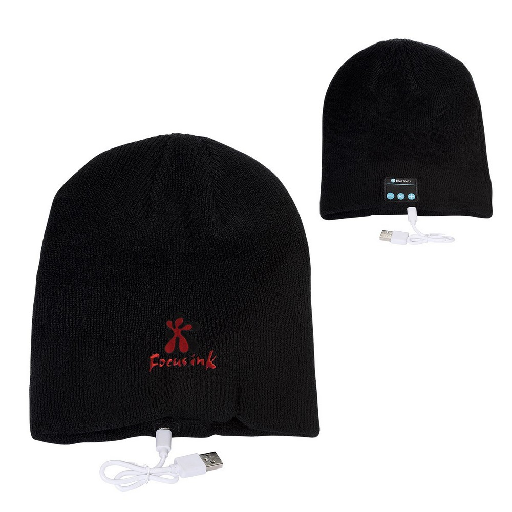 Custom Embroidered Bluetooth Knit Beanie
