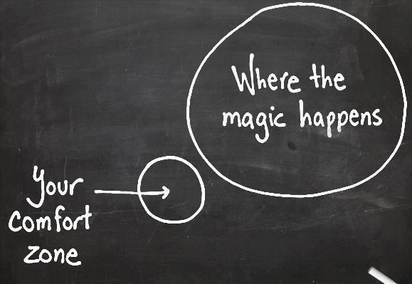 go outside your comfort zone to change your perspective