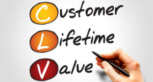 determining lifetime value of a customer