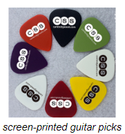screen-printed guitar picks