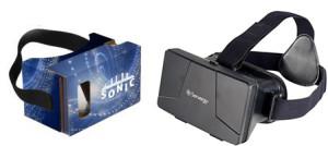 imprinted virtual reality goggles