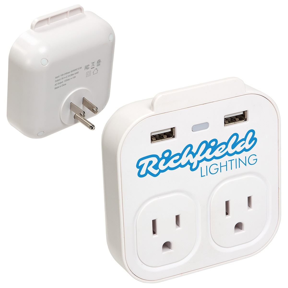wall charger and phone holder with logo