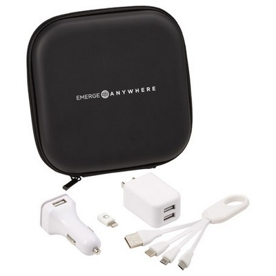 Premium Charging Travel Set with Logo