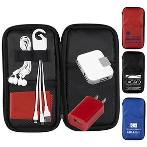 """TravPouch"" Deluxe Cell Phone Charging & Accessory Travel Kit"