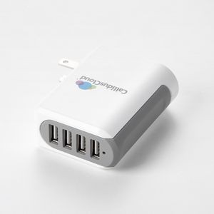 UL Listed 4.8 Amp Wall Charger w/Four USB Ports
