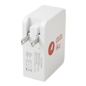 4.9 A UL Listed 4 Port Wall Charging Adapter