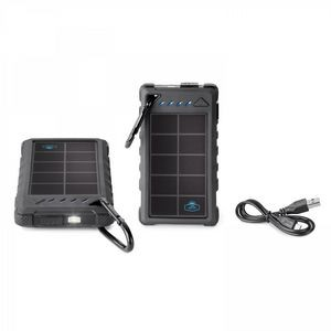 8,000 mAh SOLAR POWER BANK INCLUDES UL CERTIFIED BATTERY